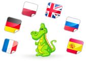 English with Memo, Le dragon Memo donne les instructions en anglais, allemand, espagnol, français, russe pour enfants.