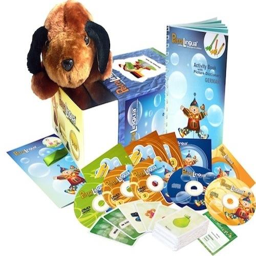 Kit PetraLingua dvd cd livres allemand pour enfants 3 à 10 ans