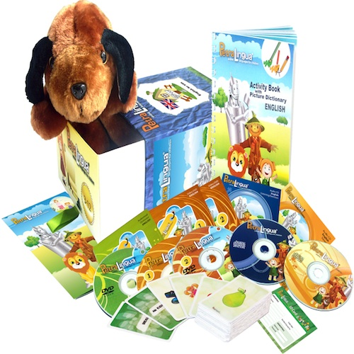 Kit PetraLingua dvd cd livres anglais pour enfants 3 à 10 ans