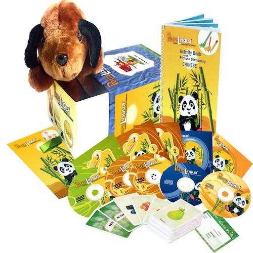 Kit PetraLingua dvd cd livres chinois pour enfants 3 à 10 ans