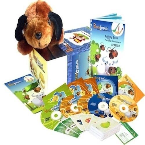 Kit PetraLingua dvd cd livres espagnol pour enfants 3 à 10 ans