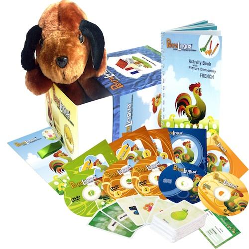 Kit PetraLingua dvd cd livres français pour enfants 3 à 10 ans
