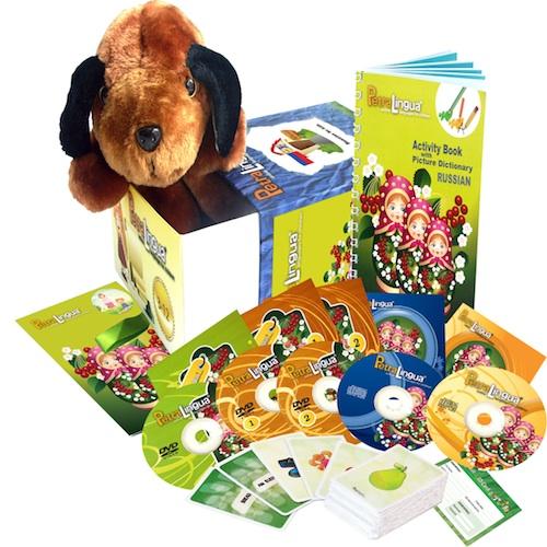 Kit PetraLingua dvd cd livres russe pour enfants 3 à 10 ans