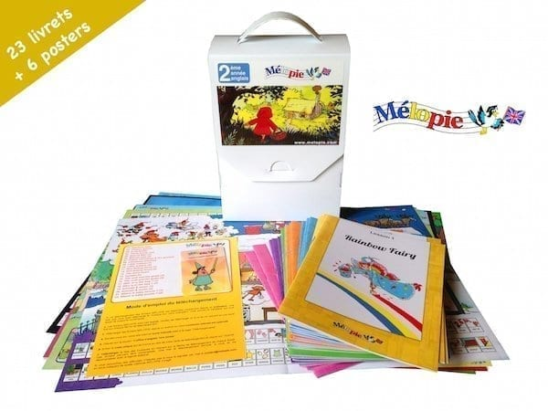 Melopie stories anglais coffret, méthode ludique d'anglais pour jeunes enfants.