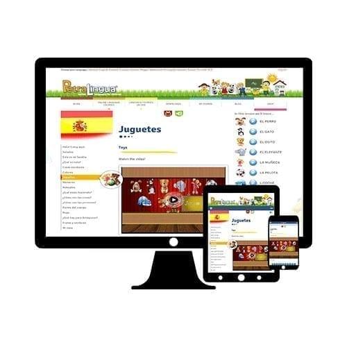 PetraLingua cours d'espagnol en ligne pour enfants 3 à 10 ans