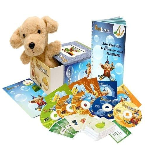 Kit Petralingua Dvd Cd Livres Allemand Pour Enfants 3 A 10 Ans