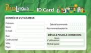 PetraLingua ID carte pour accès internet - apprendre l'espagnol enfants