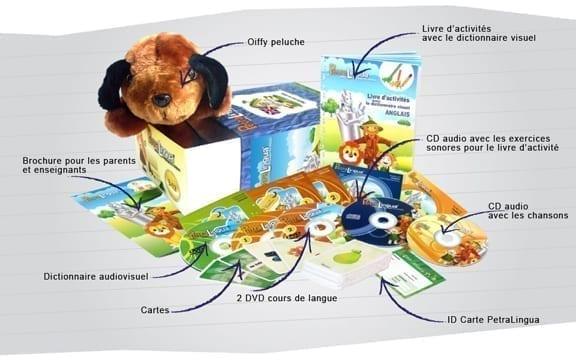 Apprendre l'anglais enfant avec le kit PetraLingua dvd cd livres