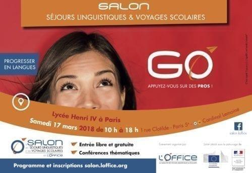 Salon des séjours linguistiques et des voyages scolaires à Paris Mars 2018