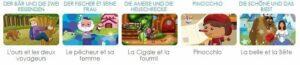 Dino Lingo méthode de langues étrangères pour enfants - histoires en allemand