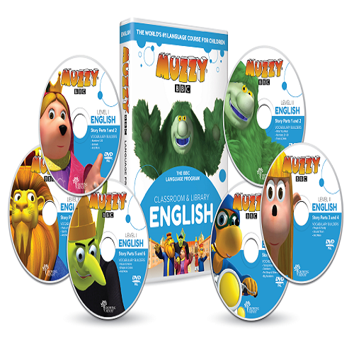 Muzzy BBC anglais pour enfants 6 DVD et Cours en ligne 3 à 10 ans