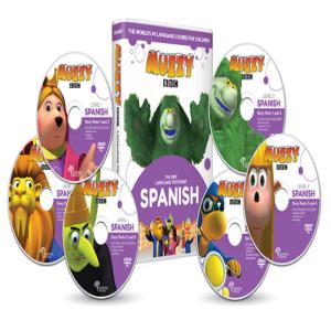 Muzzy BBC espagnol pour enfants 6 DVD et Cours en ligne 3 à 10 ans