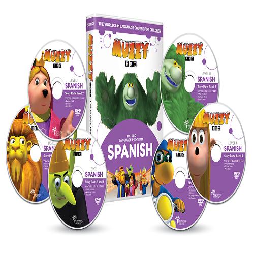 Muzzy BBC apprendre espagnol pour enfant 6 DVD et Cours en ligne 3 à 10 ans