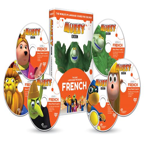 Muzzy BBC apprendre le français pour enfant 6 DVD et Cours en ligne 3 à 10 ans